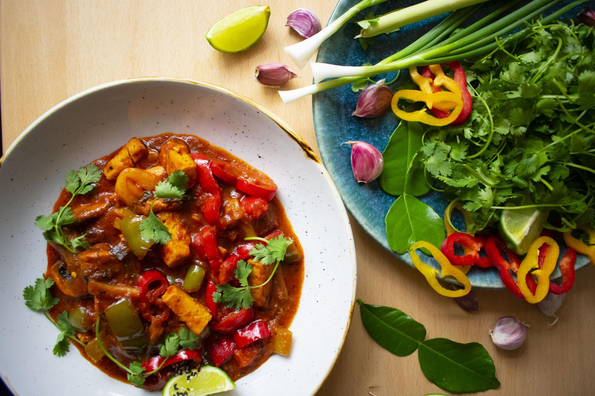 thai red veggie curry 3